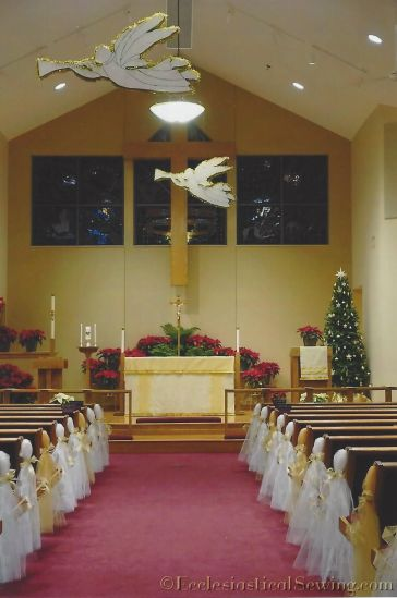 Prince of Peace Lutheran Church Baxter MN Festive Altar Frontal for Christmas