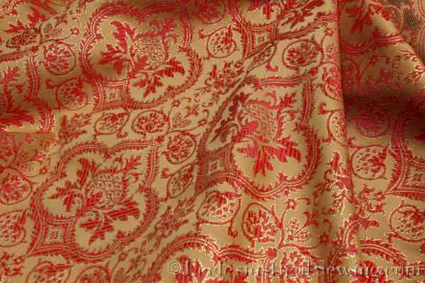 Evesham Red Gold Liturgical Brocade