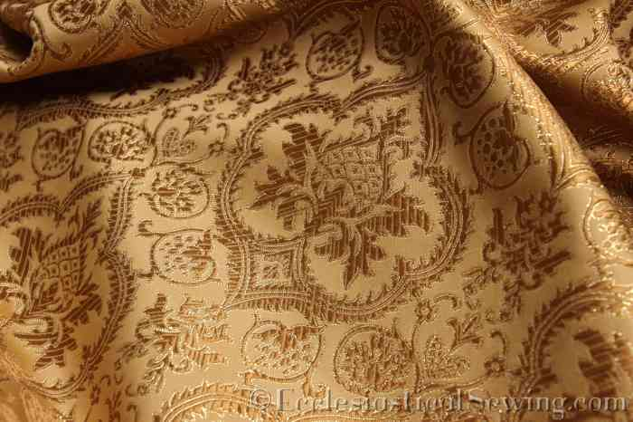 Evesham Gold Gold Liturgical Church Vestment Brocade