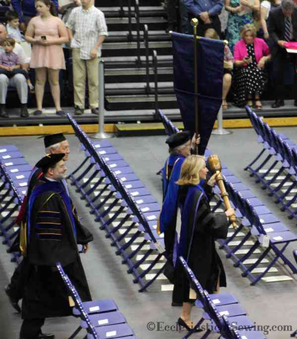 School Banner, Mace and Doctoral Gowns