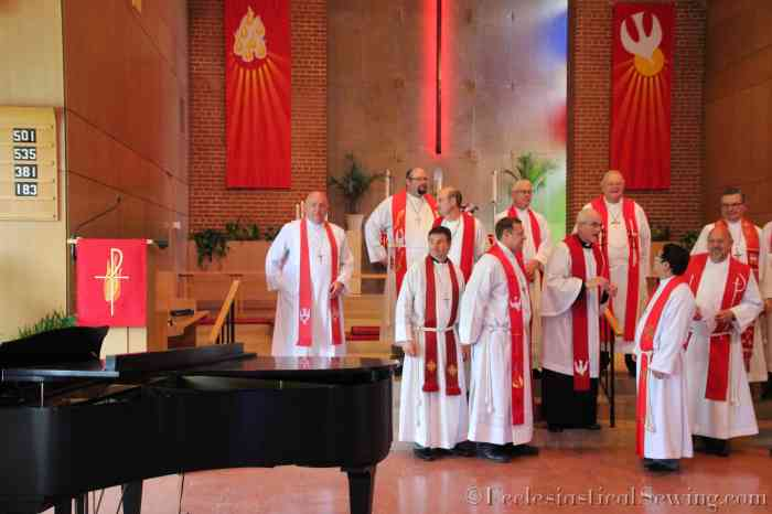Red Stoles for Pentecost