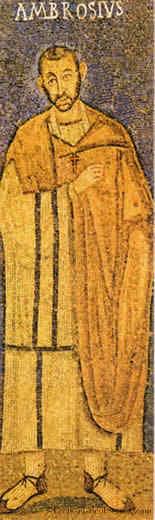 Ambrose Mosaic Milan Basilica
