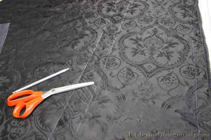 evesham-black-silk-liturgical church vestment fabric