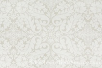 Florence White Liturgical Brocade Fabric