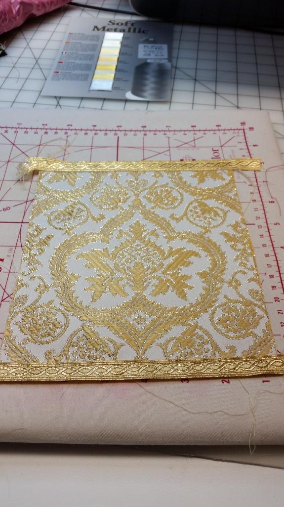 Ivory Gold Evesham Brocade