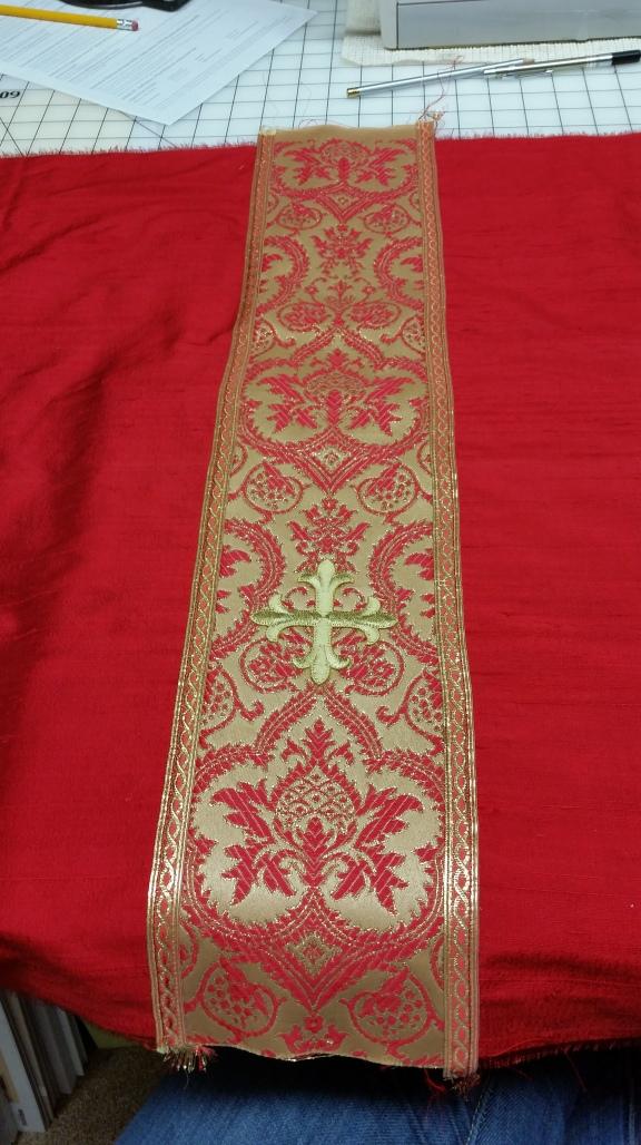 Red Chalice Veil Silk Dupioni
