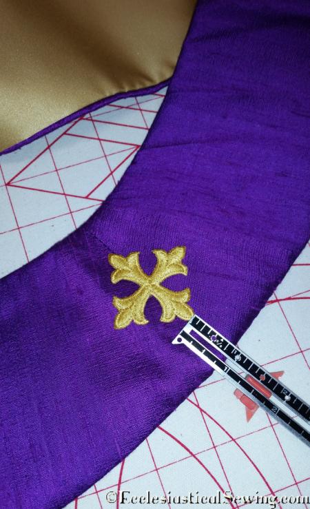 Crosses on priest stole neckline