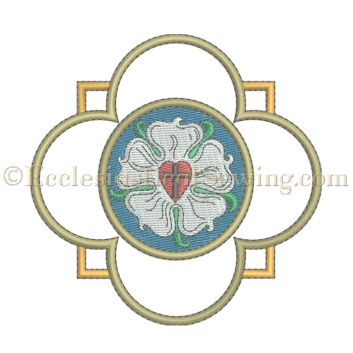 Luther Rose Religious Liturgical Machine Embroidery Design