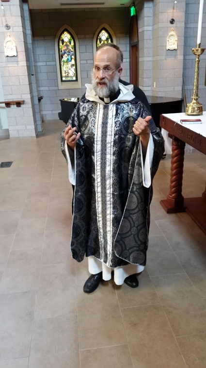Vestments made by a reader for his church