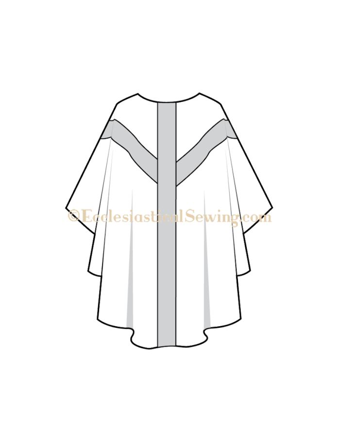 Gothic Style Chasuble pattern, Traditional CHurch vestment pattern, Latin Mass Vestment pattern, Church vestment sewing patterns, Clergy Chasuble patterns