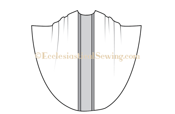 Chasuble church vestment pattern, MOnastic chasuble pattern, priest chasuble pattern, traditional vestment patterns