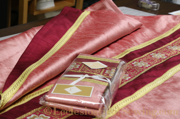 Chasuble and Stole Rose vestments priest chasuble and stole Ecclesiastical Sewing