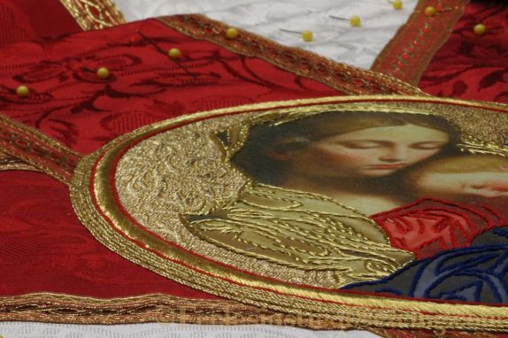 Goldwork embroidery Madonna and Child