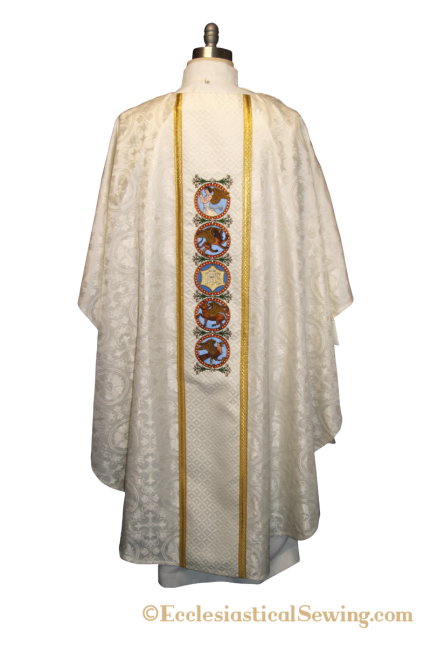 Evangelist Chasuble with Column Orphrey Band