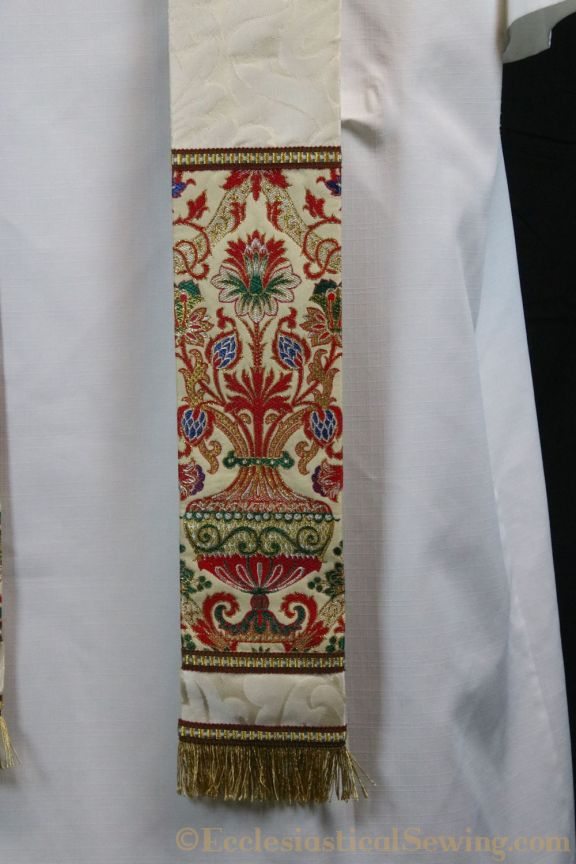 Tapestry Pastor stole clergy stole church vestments brocade fabric religious fabric