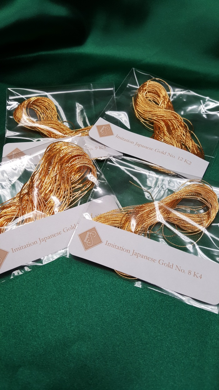 Goldwork Embroidery Thread Imiation Japanes Gold Threads K1, K2, K3, K4 Goldwork hand embroidery Ecclesiastical sewing