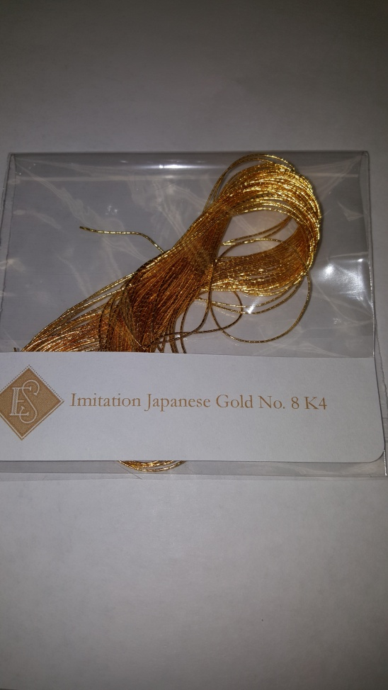 Imitation Japanese gold threads No. 8 Size K4 Ecclesiastical Sewing Hand embroidery couching threads