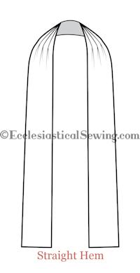 Tippet preaching scarf church vestments choir dress Ecclesiastical Sewing church vestment patterns