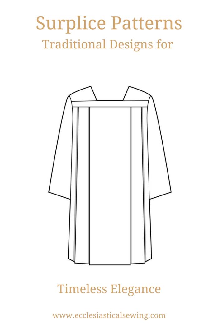 Square Yoke Surplice Pattern in Multiple Sizes | Ecclesiastical