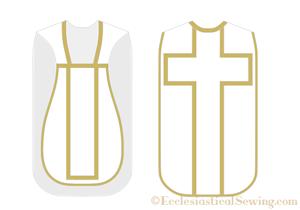 Latin mass chasuble sewing pattern church vestment pattern priest vestment pattern Ecclesiastical Sewing