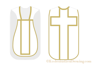 Latin mass chasuble sewing pattern church vestment pattern priest vestment pattern Ecclesiastical Sewing