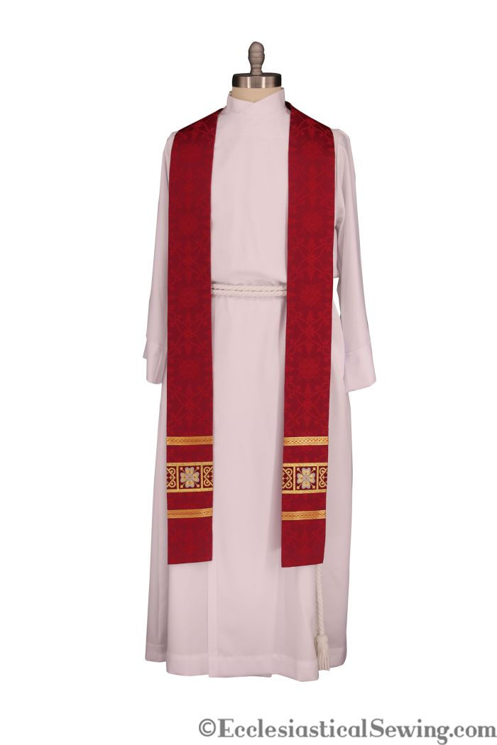 Ely Crown Liturgical Brocade Church vestment fabric priest vestments Pentecost vestments Ecclesiastical Sewing
