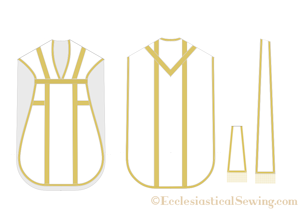 Latin Mass Chasuble pattner with Maniple and stole latin mass pattern set priest vestment sewing patterns traditional priest vestments church vestment  patterns maniple sewing pattern priest stole sewing pattern Ecclesiastical Sewing