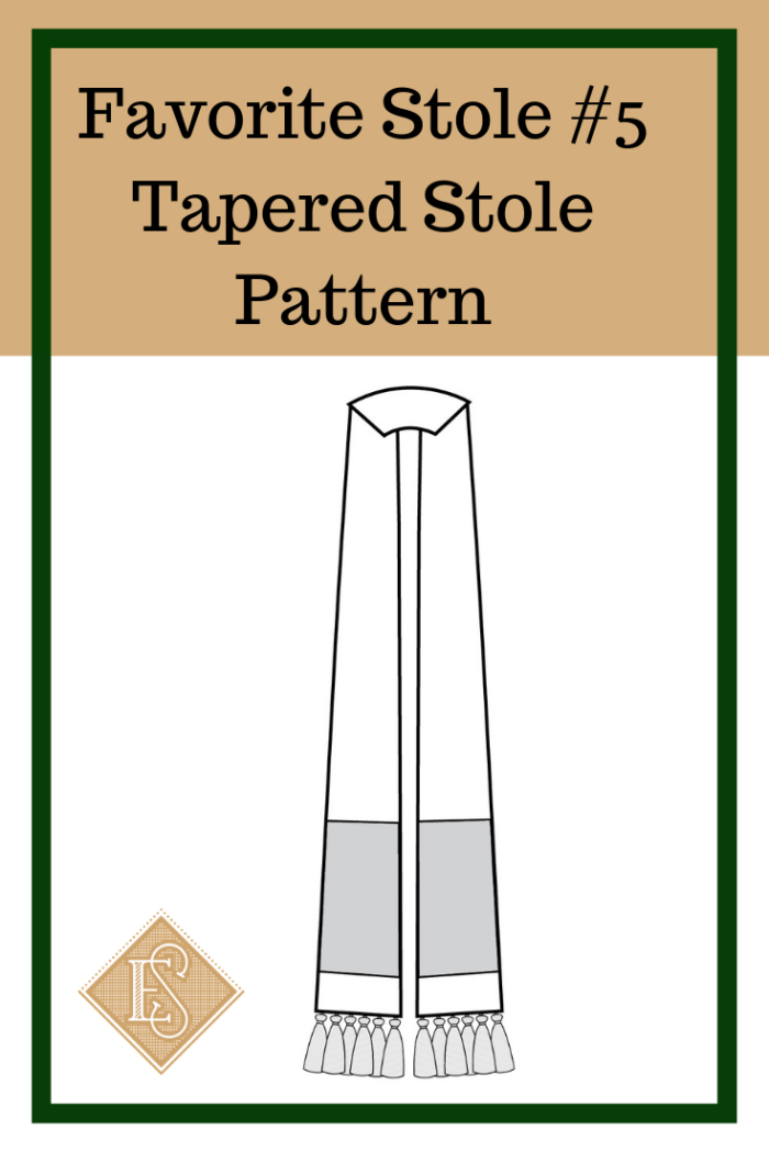 Tapered Stole Church Vestment Pattern, Ecclesiastical Sewing