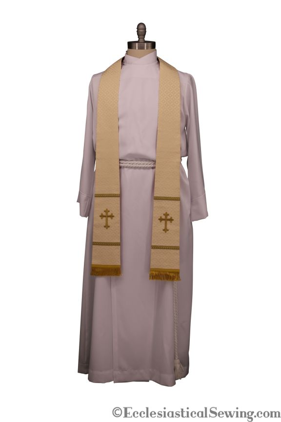Tapered stole Exeter Stole Pastor and Priest stole church vestments Ecclesiastical Sewing