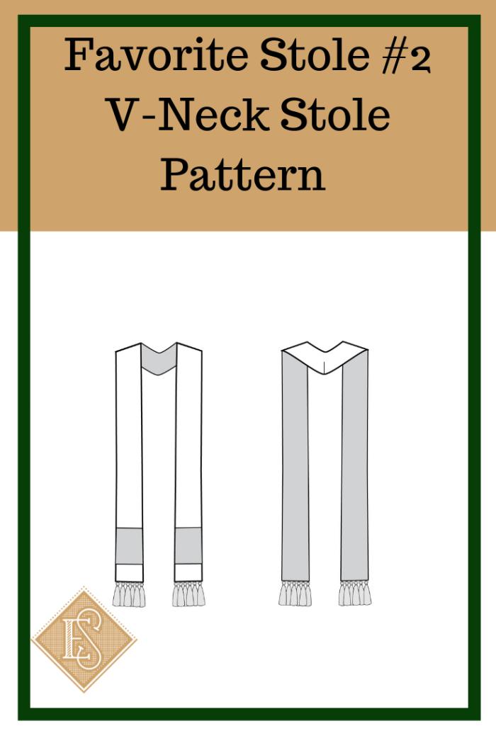 Church Vestment pattern, V-Nck Stole pattern, Pastor Stole Pattern, Clergy Stole Pattern