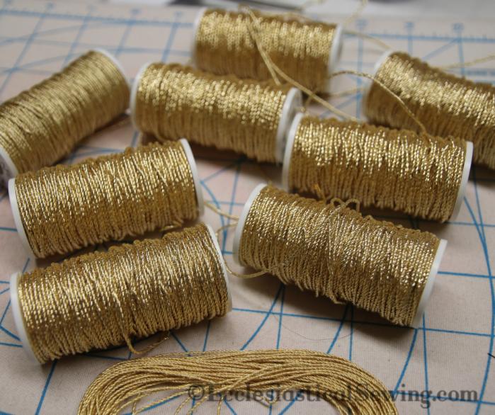 Gilt Gold Twist Goldwork thread Gold wrk embroidery Ecclesiastical Sewing