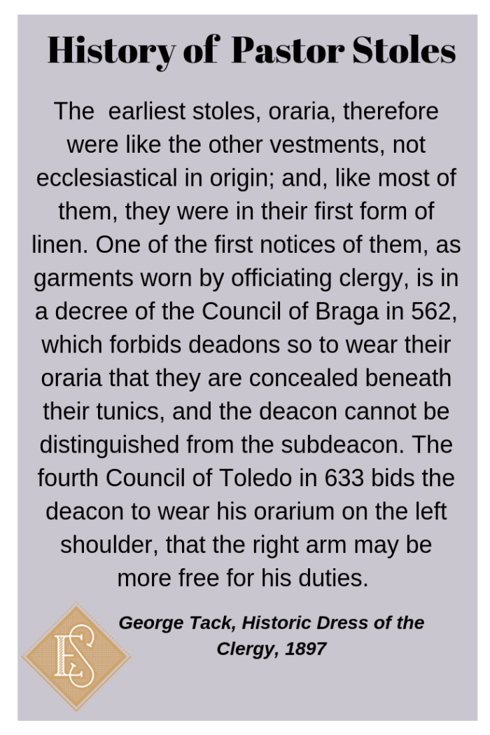 Deacon stole history Stole history, Church Vestment History Ecclesiastical Sewing